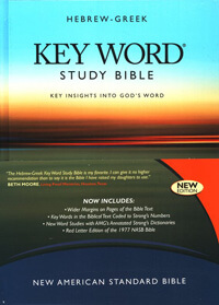 NASB Hebrew Greek Key Word Study Bible Wide Margin