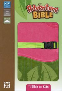 NIV Adventure Bible (revised) clip closure Pink/Green