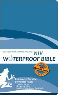 NIV Waterproof Bible New Testament, Psalms & Proverbs