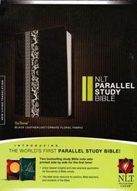 NLT Parallel Study Bible Black tutone
