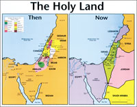Chart: Holy Land: Then and Now, The (Laminated)