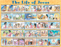 Chart: Life of Jesus, The (Laminated)