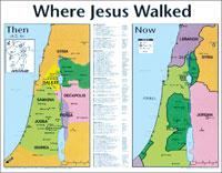 Chart: Where Jesus Walked (Laminated)