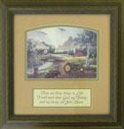 John Deere Tractor Framed Text