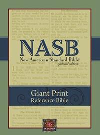 NASB Giant Print Reference Bible (Black Genuine Leather)