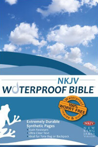 NKJV Waterproof Bible Blue
