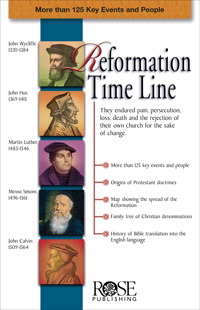 Pamphlet: Reformation Time Line