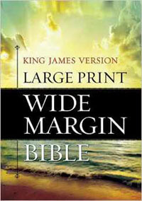 KJV Large Print Wide Margin Hardcover