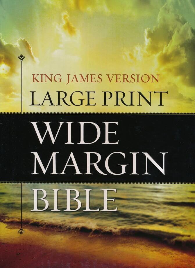 KJV Large Print Wide Margin Black Geniune Leather