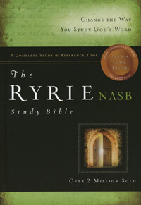 NASB Ryrie Study Bible INDEXED HC