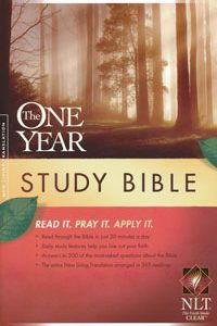 NLT One Year Study Bible Hardcover