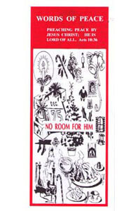 Tract: WOP No Room for Him (100 pkg)