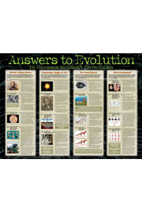 Chart: Answers to Evolution (Laminated)