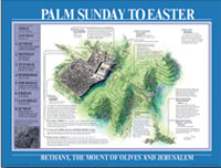 Chart: Palm Sunday to Easter Map (Laminated)