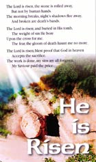 Tract: He is Risen (Easter) (KJV) pkg 20