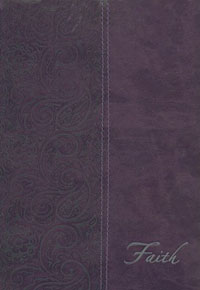 Journal Lined Lux Leather Faith Purple