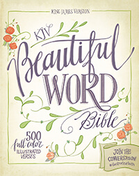 KJV Beautiful Word Bible, Hardcover, Red Letter Edition