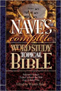 Naves Word Study Topical Bible w/CD