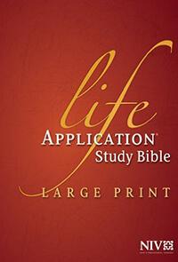 NIV Life Application Study Bible Large Print INDEXED HC