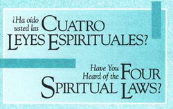 Tract: Have You Heard of the Four Spiritual Laws? SP/ENG