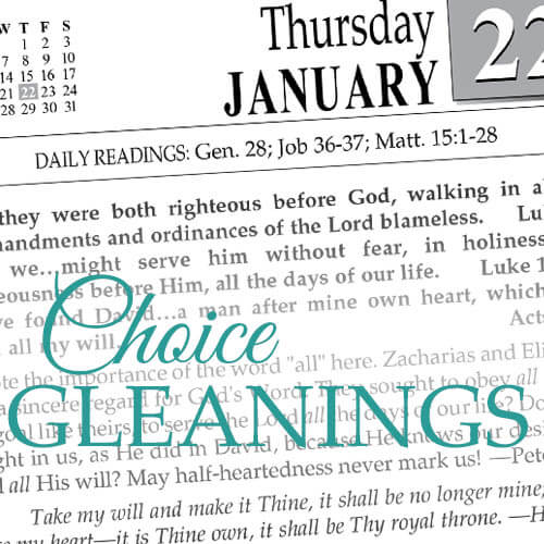 Choice Gleanings 2018